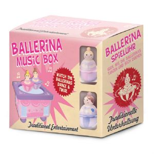Ballerina Music Box Wooden Traditional Musical Dancing Toy (Age 2+)
